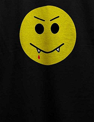 Vampir Smiley T-Shirt Schwarz