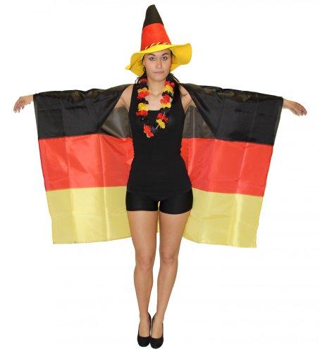chland Fan Fahne zum Anziehen für die WM 2018 EM 2020 Fan Fanartikel Party Flagge Germany Party (Rotes Motto Party Kostüm)