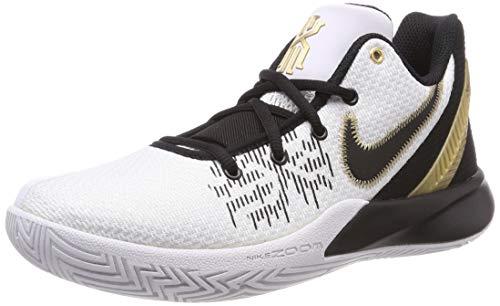 Nike Kyrie Flytrap II, Scarpe da Basket Uomo, Multicolore (White/Metallic Gold-Black 170), 45 EU