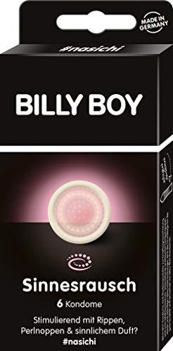 Billy Boy Sinnesrausch Kondome - transparente Kondome mit Rippen und Perlnoppen, 6-Stück