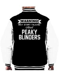 Warning May Start Talking About Peaky Blinders Men's Varsity Jacket