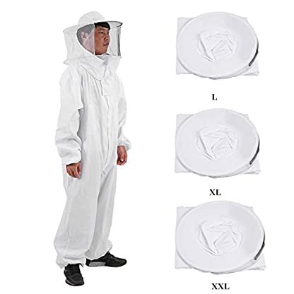 Zerodis Beekeeping Suit Beekeeping Protective Equipment Bee Keeping Full Body Cloth with Veil Hood Total Protection for Professional & Beginner Beekeepers(XL) 2