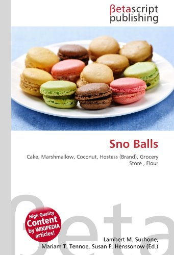 Sno Balls: Cake, Marshmallow, Coconut, Hostess (Brand), Grocery Store, Flour