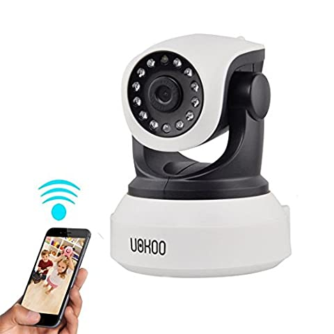 UOKOO Wireless IP Camera, 720P WiFi Security Camera Surveillance Camera with Pan/Tilt, 2-Way Audio, Day/Night Vision, Email Alarm, SD card slot, APP for Android/iOS/iPad/Tablet/PC