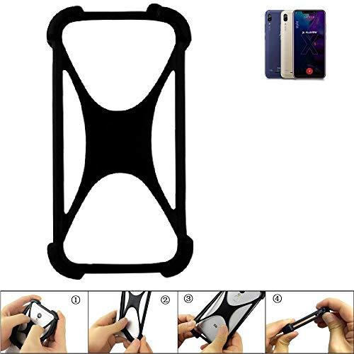 K-S-Trade Handyhülle für Allview Soul X5 Style Schutz Hülle Silikon Bumper Cover Case Silikoncase TPU Softcase Schutzhülle Smartphone Stoßschutz, schwarz (1x)