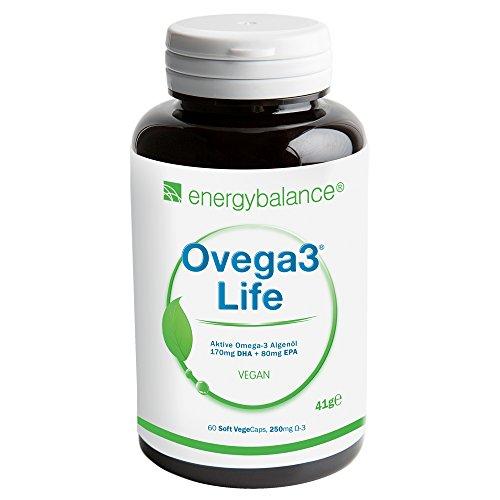 Ovega3 life DHA+EPA olio d'alga 250mg, 60 VegeCaps