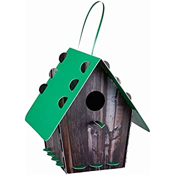 25064b5c7b6bf Group Tweet Tweet Home Nichoir pour Oiseaux en Plastique recyclé à  Assembler Imitation Bois