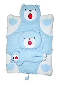 Teddy Bear Baby Bed / Matress with pillow and Teddy doll- IMPORTED 105cm x 70cm, 8cm thick