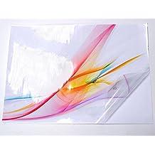 10hojas A4calidad impermeable transparente/Transparente, Brillante de vinilo autoadhesivo adhesivo láser imprimible
