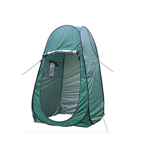 Coco Pop-up Camping Dusche Zelt, Tragbare Umkleidekabine Privacy Zelt Outdoor Beach WC und Indoor-Tragetasche mit Windows, 6.4 ft. (Farbe : Green)