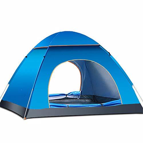 Kuppelzelte LIUSIYU 3 Personen-Zelt 4 Season Wasserdichtes, winddichtes Ultralight-Camping Vollautomatisches Öffnen und Schließen Freien Mit Himmel,Blue