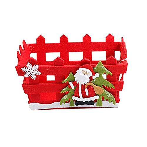 Slri siridescentzb decorazioni natalizie, cesto di immagazzinaggio di frutta candito non tessuto decorazione di pupazzo di neve di babbo natale di natale babbo natale #