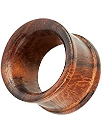 Piercingfaktor Organic Flesh Tunnel Double Flared Ohr Piercing Schmuck Holz Braun