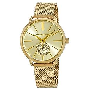 Michael Kors Damen Analog Quarz Uhr mit Edelstahl Armband MK3844