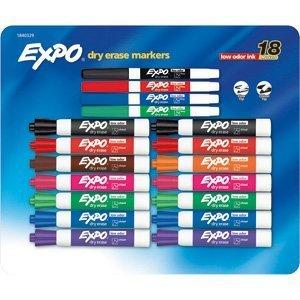 expo-asst-chisel-fine-tip-low-odor-dry-erase-markers-18-set