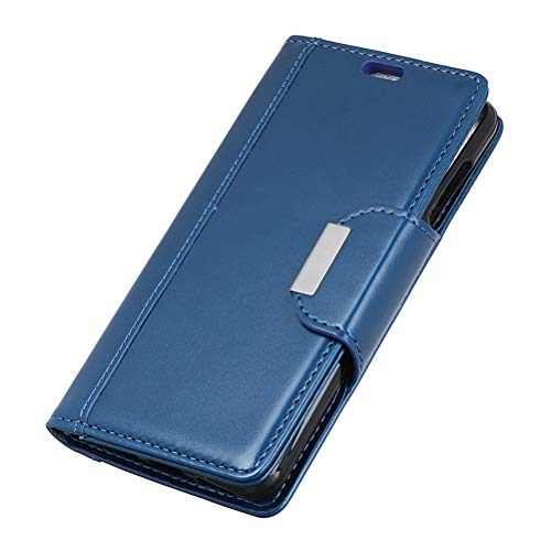 VILLCASE Flip Phone Case Magnetic Buckle PU Custodia in Pelle per Telefono Cellulare Cover per Alcatel 3 (Blu)