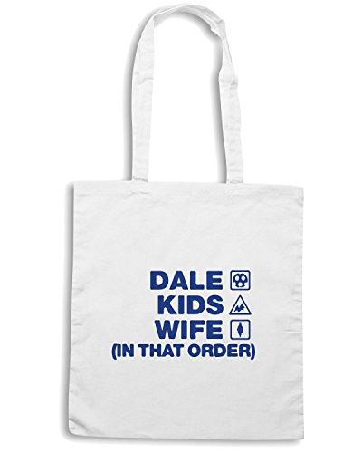 T-Shirtshock - Borsa Shopping WC1064 rochdale-dale-kids-wife-order-tshirt design Bianco