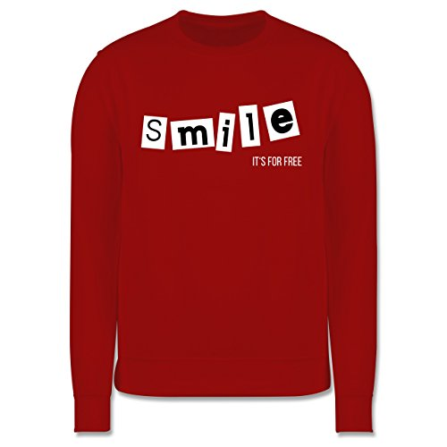 Statement Shirts - Smile it's for free - Herren Premium Pullover Rot