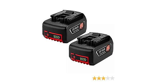 2 pack Hochstern 18V 5.0Ah BAT609 Ricambio per Bosch 18V batteria BAT609G BAT610G BAT618G BAT618 BAT618G BAT619 BAT619G BAT622 BAT620-2PK SKC181-202L con indicatore di carica a LED