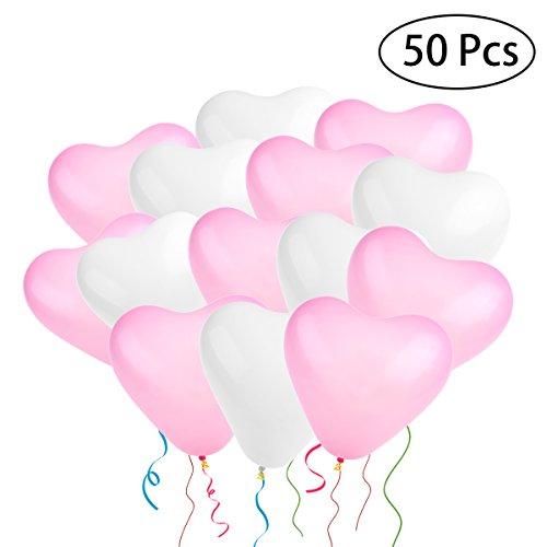 ballons,geformte Herz Luftballons für Party Dekoration, 50 Stück (Hochzeit Ballon)