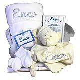 MabyBox True colours   Canastilla bebe   Regalo Babyshower   Cesta Bebé Recien nacido Personalizada (Blanco)
