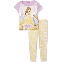 Disney Princess Girl's Beauty and The Beast Pyjama Sets, Yellow, Years (Size: 6-7)