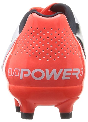 Puma Evopower 3.2 Fg Jr, Chaussures de Football mixte enfant Blanc (White/Total Eclipse/Lava Blast)