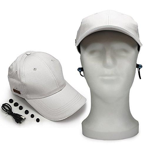 Cappellino da baseball unisex con cuffie auricolari stereo integrate con pannello di controllo a grigio