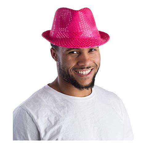 Dress Up America Rosa Pailletten Fedora Hut für Erwachsene