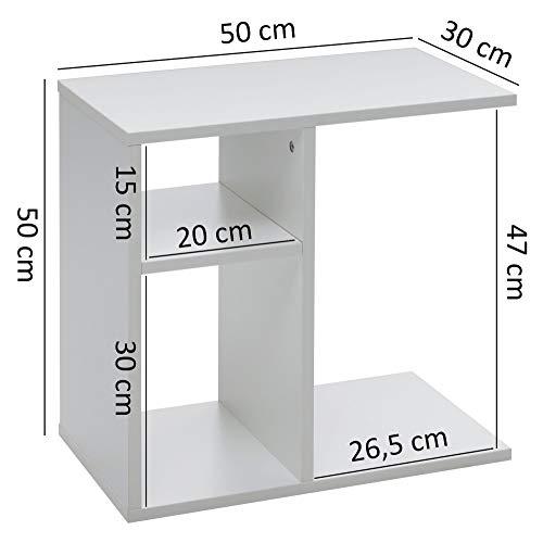Tavolino Alto E Stretto.Tavolino Ilo 50x50x30 Cm Divano In Legno Bianco Design