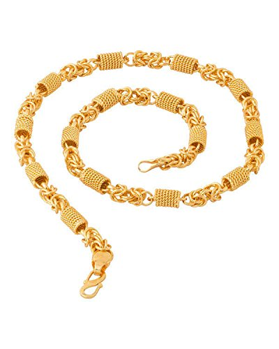 Factorywala Lustrous Link Gold Plated Chain necklace jewelry For Men, Boys, friend, brother