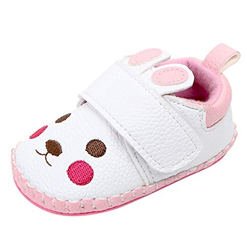 Linlink Schuhe Xinan Baby Mädchen Blume PU Schuhe - Lauflernschuhe Junge Mädchen Kleinkind 0-6 Monate 6-12 Monate 12-18 Monate 18-24 Monate