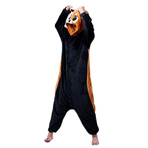 Missley Einhorn Pyjamas Kostüm Overall Tier Nachtwäsche Erwachsene Unisex Cosplay (S, Little Black Chicken)