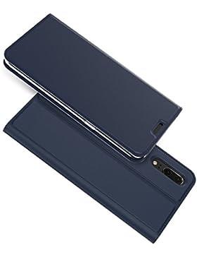 Carcasa Huawei P20, Huawei P20 funda de piel, basicstock Ultra Fina suave PU Piel funda cartera con [ranura para...