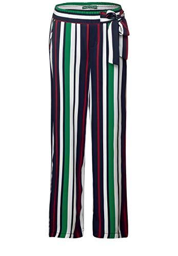 Wide Leg Hose-hosen (Street One Damen Wide Leg Hose mit Streifen 28