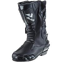 Protectwear TS-006-47 Motorradstiefel Racing aliue, Wasserabweisend aus  schwarzem Leder mit aufgesetzten ccf042500a