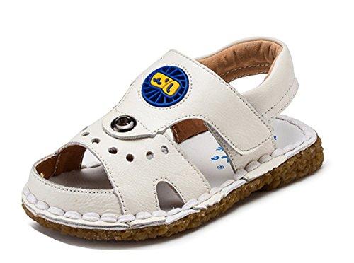 Ohmais Enfants Chaussure bebe garcon premier pas Chaussure premier pas bébé sandale en cuir souple Blanc