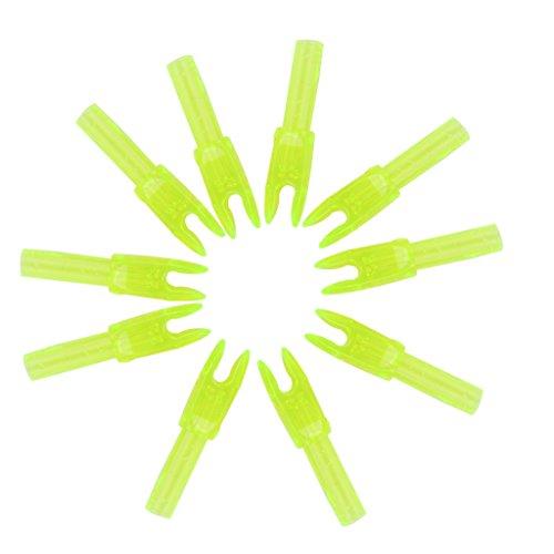 MagiDeal 10pcs Archery Arrow Nocks Shaft End Accessories G size - Transparent Yellow Test