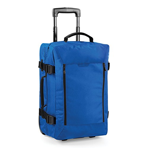 Dual-Layer-Kabine auf Rädern Tasche von BagBase - 40 Liter Fassungsvermögen Black