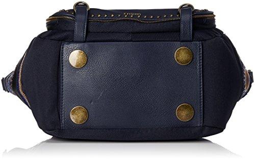 Desigual 17WAXFAN Shopper Tasche Damen Blau (Navy)