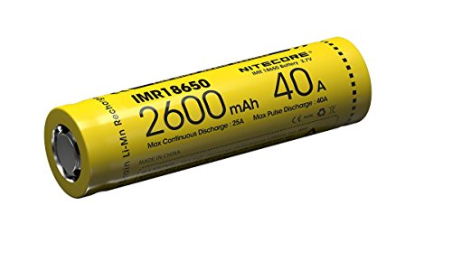 Nitecore 18650IMR Li-Ion Akku - 2600mAh/40A (2-er Pack)