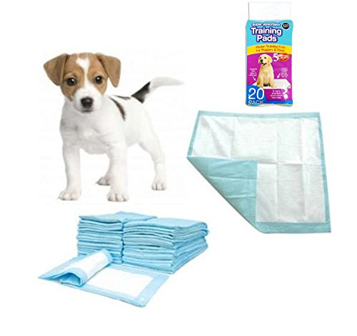 Pack of 60 Super Absorbent Premium Puppy Dog Training Pads 60 x 45cm by World of Pets