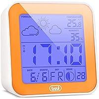 TREVI ME-3105 Stazione Metereologica (Sveglia Digitale, Previsioni Del Tempo, Indicazione Temperatura e Umiditá, Indicazione Fasi Lunari) Arancione