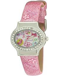 Barbie BW003B - Reloj analógico para niña de plástico rosa