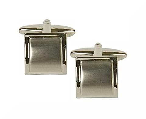 Shiny Brushed Square Combo Cufflinks. Premium Quality Cufflinks from the Dalaco Classic Collection. Luxury cuff links from the unsurpassed Dalaco range, with high quality presentation box and pen. Made in