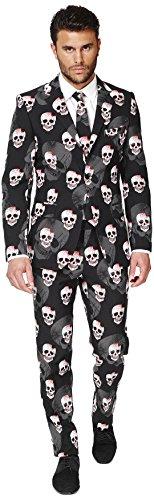 OppoSuits OSUI-0035-EU52 - Skulleton - Halloween Kostüm, Schädel Anzug, Größe 52, - Halloween Opposuits