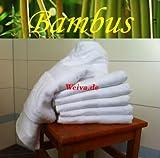 WeiVa Bambushandtuch -premium line 70 % Bambus - 600 g/m² (-100 x 200 cm Badetuch / Saunatuch)