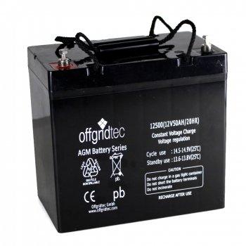 Offgridtec AGM Solar Batterie für zyklische Anwendungen, 51 Ah / 12 V, 001002