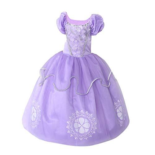 Mengonee Short Sleeve Baby-Kostüm-Kleid-Kind-Spitze-Kurzschluss-Hülsen-Lange - Lace Short Sleeve Kostüm
