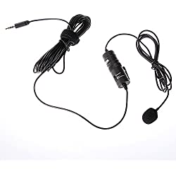 Boya by de M1Lavalier Condensador omnidireccional Micrófono estéreo para DSLR Canon Nikon cámara videocámara iPhone Smartphone grabación de radiodifusión Audio Flautas